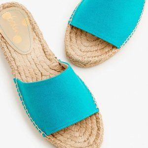 NWOT Boden Corrie Espadrille Turquoise Size 38 7.5